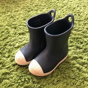 Crocs navy rain boots size 7